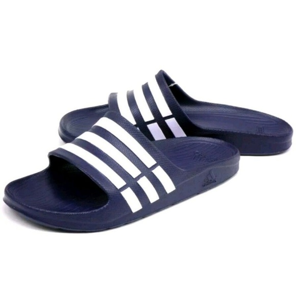 ec74caf35 Adidas Duramo Slides Sandals Navy Blue Size US 12